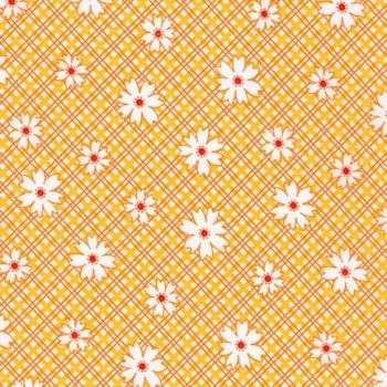 Robert Kaufman Fabrics ~ Penny's Pets ~ Daisy Plaid in Screamin' Yellow