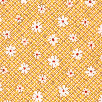 Robert Kaufman Fabrics ~ Penny's Pets ~ Daisy Plaid in Screamin' Yellow
