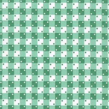 Robert Kaufman Fabrics ~ Penny's Pets ~ Dotty Gingham in Aloe
