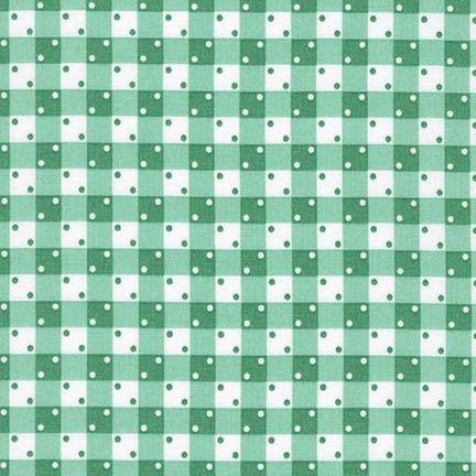 Robert Kaufman Fabrics ~ Penny's Pets ~ Dotty Gingham in Aloe