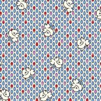 P & B Textiles ~ Feedsack ~ Buds Blue