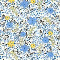 P & B Textiles ~ Feedsack ~ Cuttings Blue