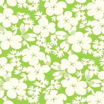 P & B Textiles ~ Feedsack ~ Floral Green