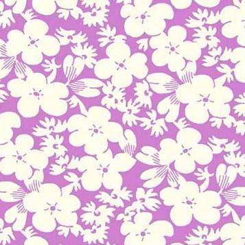 P & B Textiles ~ Feedsack ~ Floral Lilac