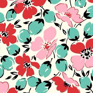 P & B Textiles ~ Feedsack ~ Main in Pink and Teal