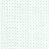 Lecien Fabric ~ Quilters Basic ~ Dainty Dots Aqua in Ivory