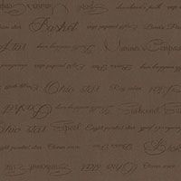 Lecien Fabric ~ Quilters Basic ~ Quilters Text Brown