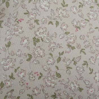 Lecien Fabric ~ Quilters Basic ~ Floral Silver Grey