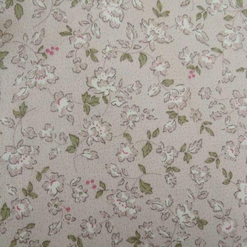Lecien Fabric ~ Petite Pastels ~ Floral Silver Grey