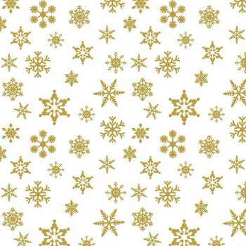 Riley Blake Fabric ~Sparkle Cotton ~ Snowflake Gold