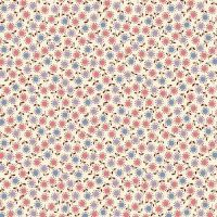 Marcus Brother Fabrics ~ Aunt Grace ~ Dotty Circle Flower Pink