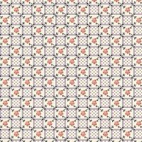 Marcus Brother Fabrics ~ Aunt Grace ~ Floral Plaid Lilac
