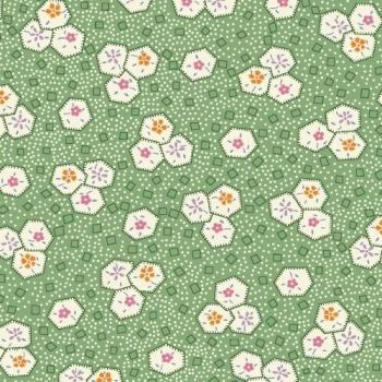 Marcus Brother Fabrics ~ Aunt Grace ~ Hexie Floral Green