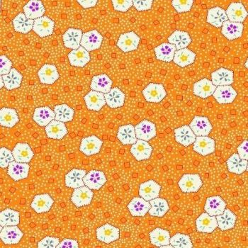 Marcus Brother Fabrics ~ Aunt Grace ~ Hexie Floral Melon