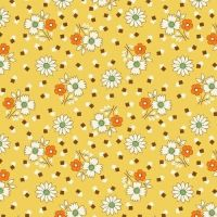 Marcus Brother Fabrics ~ Aunt Grace ~ Square Dance Floral Yellow