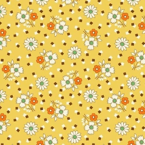 Marcus Brother Fabrics ~ Aunt Grace ~ Square Dance Yellow
