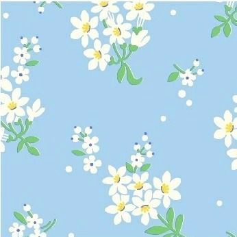 Windham Fabrics ~ Feedsack ~ Flower Cluster Blue