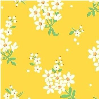 Windham Fabrics ~ Feedsack ~ Flower Cluster Yellow