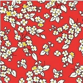 Windham Fabrics ~ Feedsack ~ Outline Floral Red