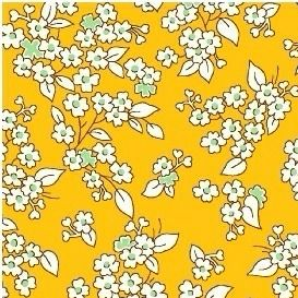 Windham Fabrics ~ Feedsack ~ Outline Floral Yellow
