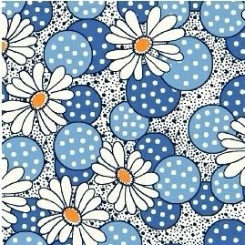 Windham Fabrics ~ Feedsack ~ Polka Dot Flower Blue