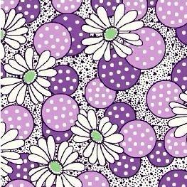 Windham Fabrics ~ Feedsack ~ Polka Dot Flower Lilac