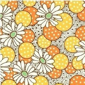 Windham Fabrics ~ Feedsack ~ Polka Dot Flower Yellow