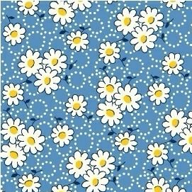 Windham Fabrics ~ Feedsack ~ Ring Daisies Blue