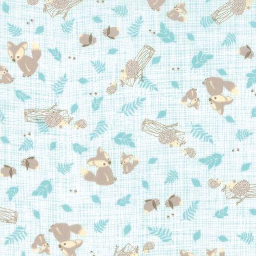 Moda Fabric ~ Lullaby ~ Critters Aqua