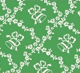 Windham Fabrics ~ Storybook Christmas ~ Lattice Bells Green