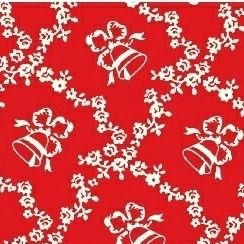 Windham Fabrics ~ Storybook Christmas ~ Lattice Bells Red
