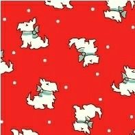 Windham Fabrics ~ Storybook Christmas ~ Scotties Red