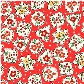 Windham Fabrics ~ Storybook Christmas ~ Christmas Shapes Red