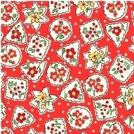 Windham Fabrics ~ Storybook Christmas ~ Christmas Shapes Red