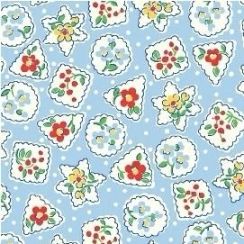 Windham Fabrics ~ Storybook Christmas ~ Christmas Shapes Blue