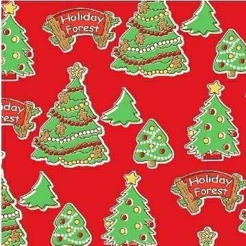 Windham Fabrics ~ Storybook Christmas ~ Christmas Trees Red