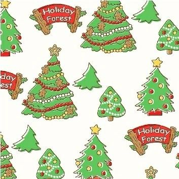 Windham Fabrics ~ Storybook Christmas ~ Christmas Trees White