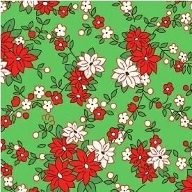 Windham Fabrics ~ Storybook Christmas ~ Poinsettias Green