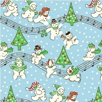 Windham Fabrics ~ Storybook Christmas ~ Singing Snowmen Blue