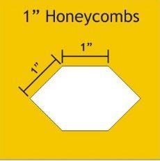 "Patchwork Paper Pieces ~ Honeycomb 1"""