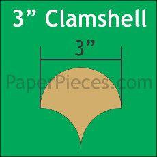 Patchwork Paper Pieces ~ Clamshells 3
