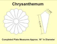 "Patchwork Paper Pieces ~ Chrysanthemum Plate 12"""