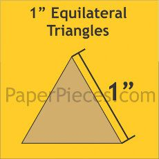 Patchwork Paper Pieces ~ Equilateral Triangle 1""