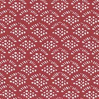 Lecien Fabric ~ High Tea ~ Lace Scallop in Fig Red