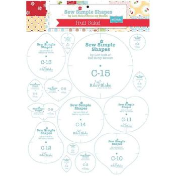 Lori Holt of Bee in my Bonnet ~ Fruit Salad Sew Simple Shapes Templates