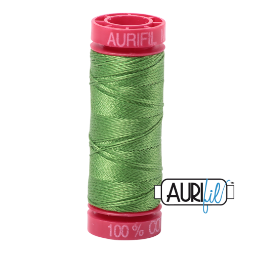 Aurifil ~ 12 wt Cotton ~ 1114 ~ Grass Green