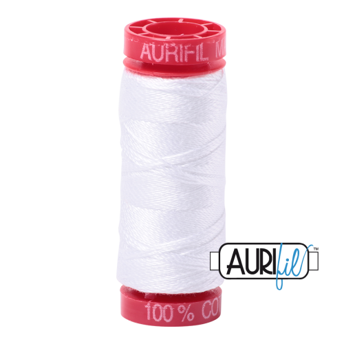 Aurifil ~ 12 wt Cotton ~ 2024 ~ White