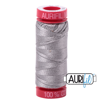 Aurifil ~ 12 wt Cotton ~ 2620 ~ Stainless Steel
