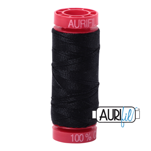 Aurifil ~ 12 wt Cotton ~ 2692 ~ Black