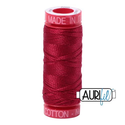 Aurifil ~ 12 wt Cotton ~ 2260 ~ Red Wine